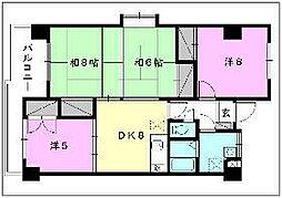 アインヴィントマンション[510 号室号室]の間取り