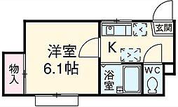 オーキッドハウス bt[103kk号室]の間取り