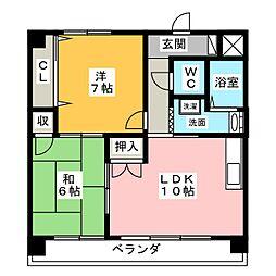 第2サンケイビル[1階]の間取り