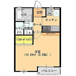 群馬県館林市富士見町の賃貸アパートの間取り