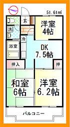 セジュール湘南[3階]の間取り