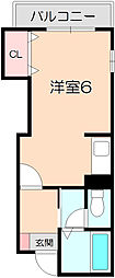 ビュー中桜塚[302号室]の間取り