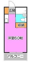 ニュー落合コーポ[1階]の間取り