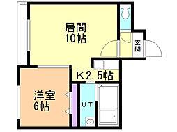 クラリス澄川 5階1LDKの間取り