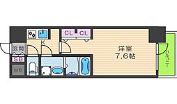 S-RESIDENCE西天満Grand Jour 13階1Kの間取り