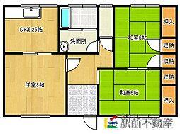 高木アパート[2号室]の間取り