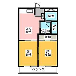アニバーサリーK2[3階]の間取り