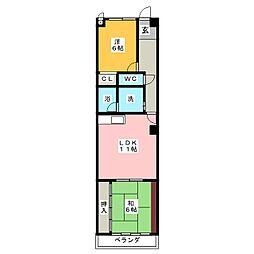 HOUSE松本II[2階]の間取り