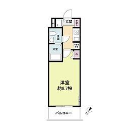 S-RESIDENCE神戸磯上通[0909号室]の間取り