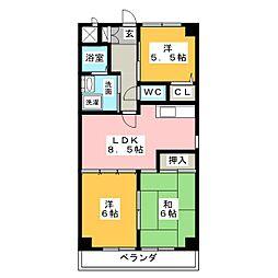 サンステージII[1階]の間取り