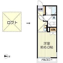 マ・ピエス生田7-A棟[204号室]の間取り