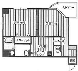 文京ツインタワー[801号室]の間取り