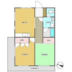 モロマンションA棟[215号室]の間取り