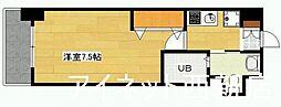 福岡市地下鉄空港線 室見駅 徒歩7分の賃貸マンション 7階1Kの間取り
