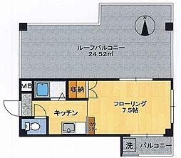 ユンゲルハイム原田[4階]の間取り