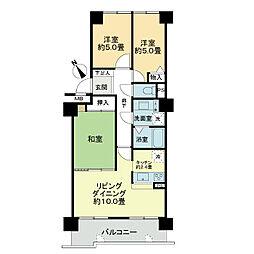 クリオ二十四軒壱番館[3階]の間取り
