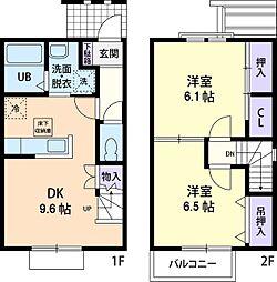 プラザ花岡A[2階]の間取り