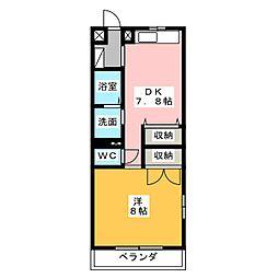 ユーミーSUZUKI[2階]の間取り