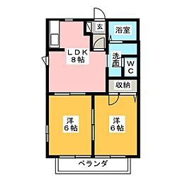メゾンドール兼平 C棟[2階]の間取り