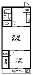 東京都練馬区富士見台1丁目の賃貸マンションの間取り