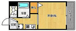 京都府京都市上京区東桜町の賃貸マンションの間取り