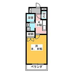 リヴスペースW[3階]の間取り