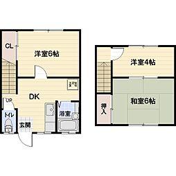 松金住宅[6号室]の間取り