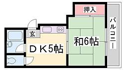 阪急堂パレス[303号室]の間取り