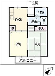 ファミールSAITO[1階]の間取り