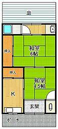 松本文化[1階]の間取り