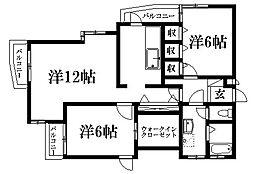 山手オックスフォードハウス[1階]の間取り