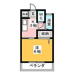 シャルムI[2階]の間取り