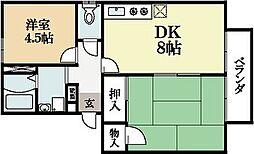 コーポソレイユ[1階]の間取り