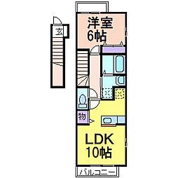 デスパシオ B[2階]の間取り