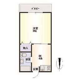 久津和マンション[2階]の間取り