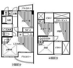 エヌエフ東戸塚(エヌエフヒガシトツカ)[3階]の間取り