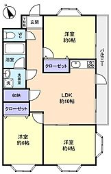 フジマンション[3階]の間取り