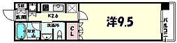 リーガル神戸三宮フラワーロード 12階1Kの間取り