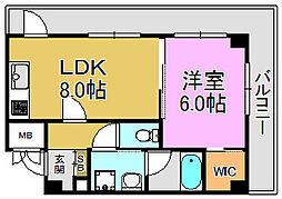 TSカーサSECONDO[7階]の間取り