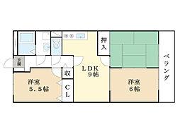 アトリオマンション[2階]の間取り