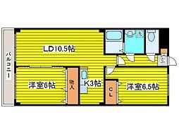 北海道札幌市東区北二十四条東7丁目の賃貸マンションの間取り