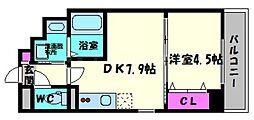 ラカーサ京橋[9階]の間取り