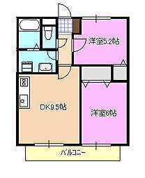 ハイツ東6[2階]の間取り