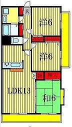 エクセレンス松戸参番館[4階]の間取り