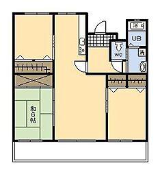 シティビルまなび野 2号棟[206号室]の間取り