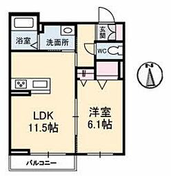 仮)シャーメゾン津島福居[2階]の間取り