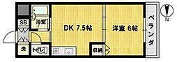 おおきに北大阪リバーフロントAP[7階]の間取り