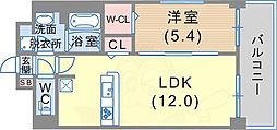 Cherir六甲道 7階1LDKの間取り