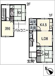 [タウンハウス] 愛知県名古屋市千種区丸山町3丁目 の賃貸【/】の間取り