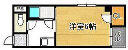 大阪府大阪市平野区平野西1丁目の賃貸マンションの間取り